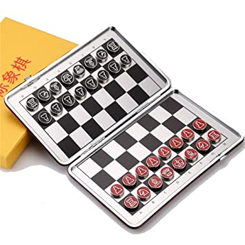 game Magnetic Travel chess set with folding chess board educational toy