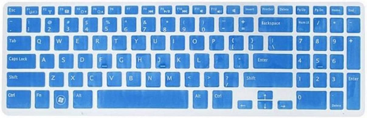 Colorful Us Keyboard Skin Cover Protector for 15.6 for Dell New Inspiron 15C 15Cr 15Md 5Cd 15M-Black