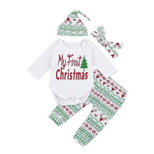 3e9d80c48 Amazon.com  4Pcs My 1st Christmas Toddler Infant Baby Boy Girl Xmas ...