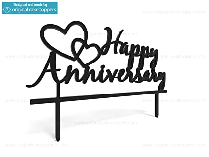 """/""""You /& Me/"""" Heart Black Made by OriginalCakeToppers Wedding Cake Topper"""