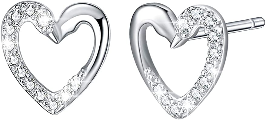 925 Sterling Silver Kiss /& Lips Design With Crystals New Stud Earings UK Seller