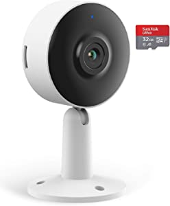Arenti Home Security Camera WiFi 1080P FHD, IN1 Indoor Cam with 32G SD Card, Night Vision, Two-Way Audio, Motion & Sound Detection - Smart IP Camera Works with Alexa, Google