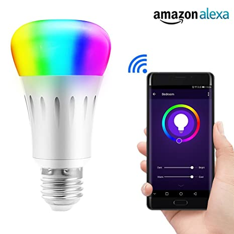 LIGHTEU®, WiFi Smart LED bombilla, Smartphone Controlado luz de día & luz nocturna