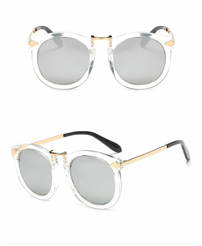 Gafas de Sol Unisex de Las Gafas de Sol de la Manera Medio Retro Del Marco 2a585feea50