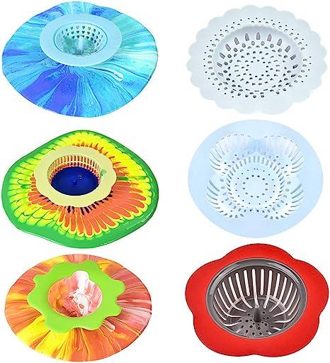 Lanthour - Juego de 6 filtros de Silicona de Colores para niños para la Pintura FAI-da-Te, Aptos para Aprender a casa en la Escuela al Arte y al Curso de formación.: Amazon.es:
