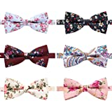 AUSKY 8 PACKS Elegant Adjustable Pre-tied bow ties for Men Boys in Different Colors(1&5&6&8Pack for option)