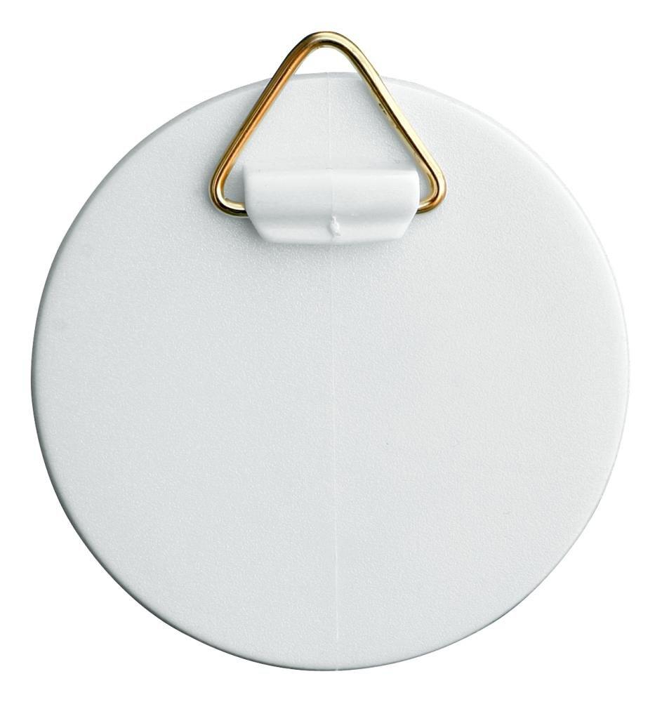 Home Xpert –  Gancio autoadesivo con occhiello in ottone, in plastica, diverse misure disponibili, colore: bianco Hansi-Siebert