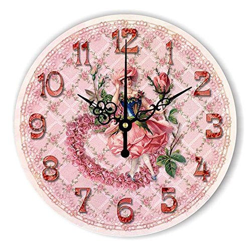 Biscount Cartoon Decorative Wall Clock For Children Room Girls