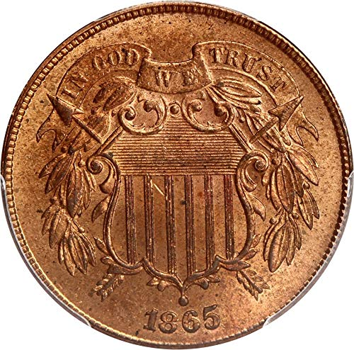1865 P 2-Cent Pieces Two-Cent MS65 PCGS RD