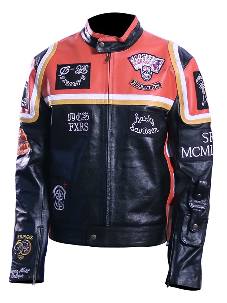 Men's Motor Biker Real Leather Jacket. LeatherNJackets