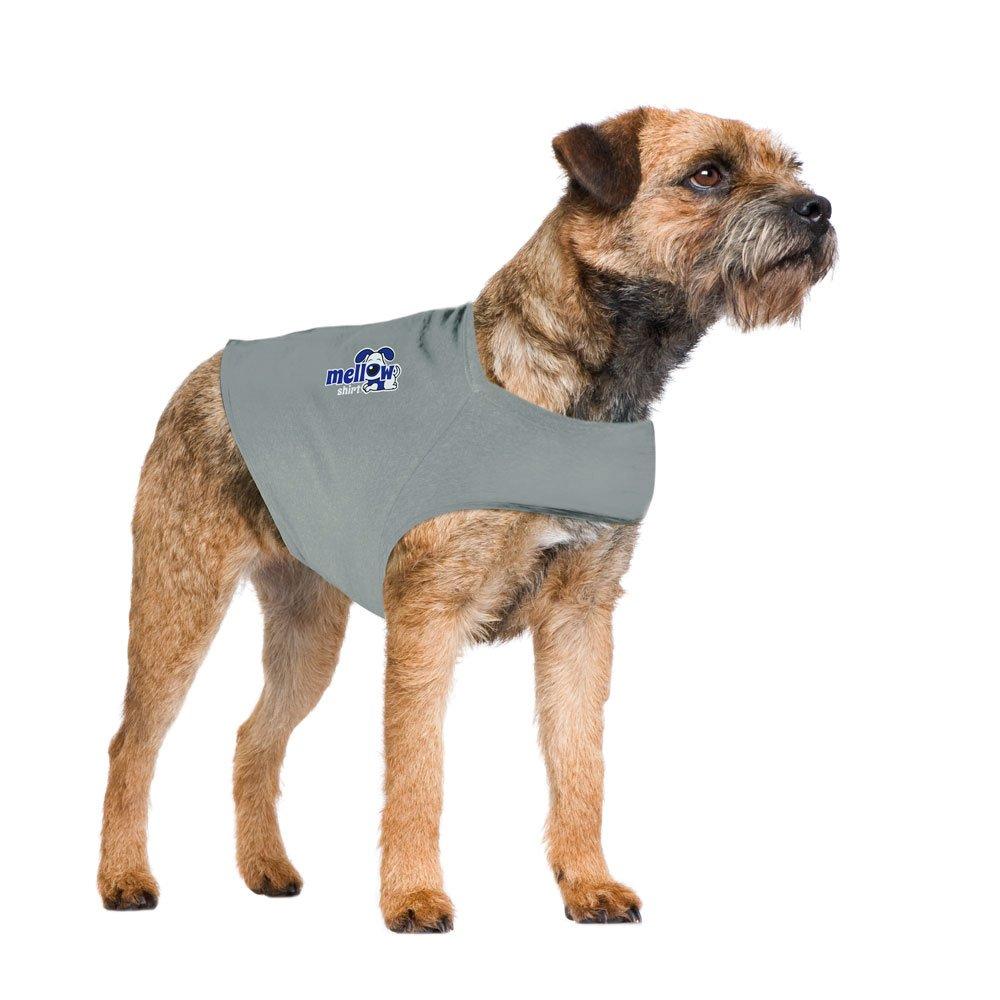 Aluminum Medium (30-50 lbs) Aluminum Medium (30-50 lbs) Mellow Shirt Dog Anxiety Calming Wrap, Medium, Aluminum