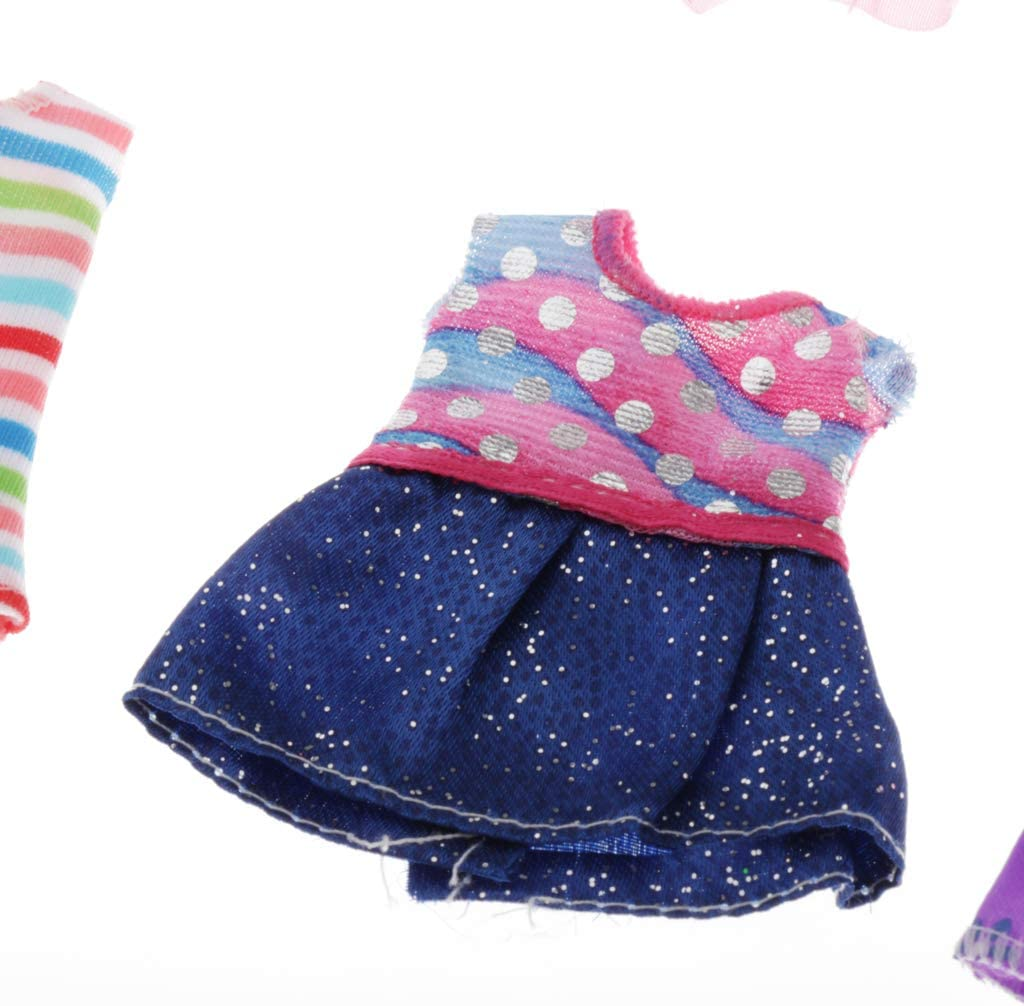 SaniMomo Mini Dolls Clothes 8 Sets Fashion Dresses as described For 16cm//6inch Mini Girl Dolls Dressing Up - Set1 Dolls Not Included