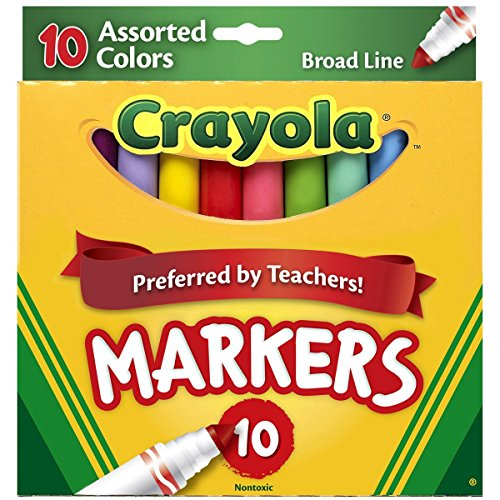 Crayola Assorted Broad Markers Count
