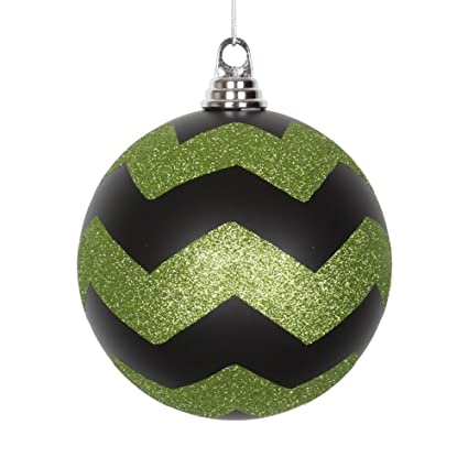 Amazon Com Vickerman Decorative Ball With Green Glitter 150mm