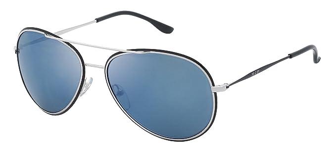 dec7143349 Police - Gafas de sol Aviador S829958583B LOUMA 2, Blue (Shiny Silver  Palladium/
