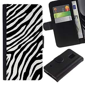 APlus Cases // Samsung Galaxy S5 V SM-G900 // Cebra Negro Blanco rayas líneas África // Cuero PU Delgado caso Billetera cubierta Shell Armor Funda Case Cover Wallet Credit Card