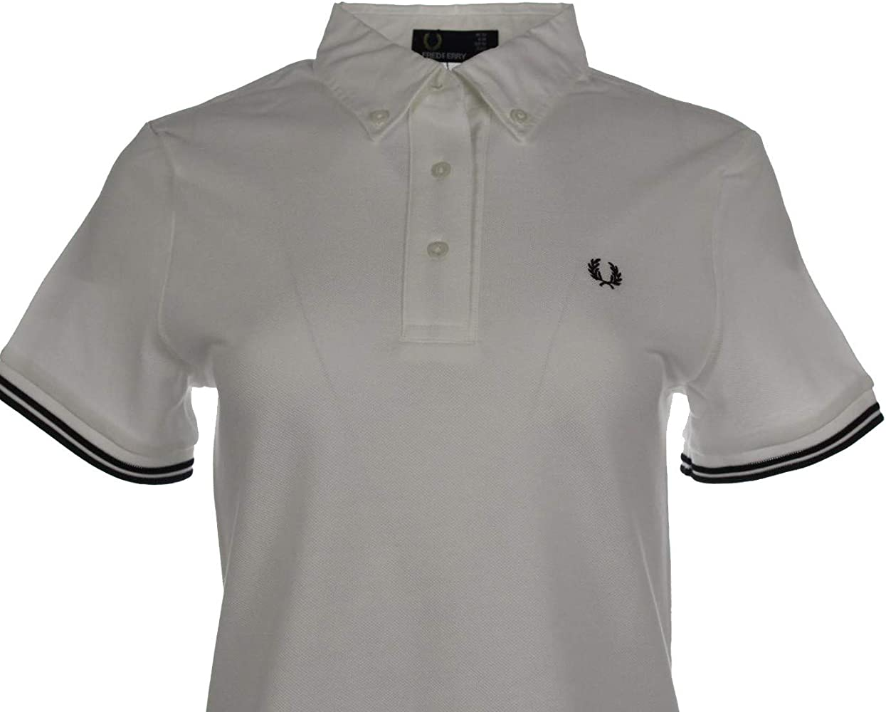 Fred Perry G9114 - Polo para Mujer, Color Blanco Blanco 38: Amazon ...