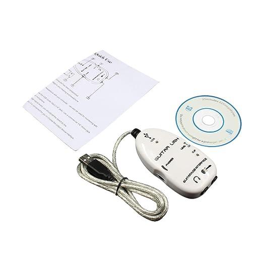 TianranRT - Cable adaptador para conexión de guitarra eléctrica a USB para PC y Mac Recordin, Negro: Amazon.es: Bricolaje y herramientas