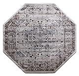 Masada Rugs Oriental Vintage Distressed Area Rug Rafael Collection (5 Feet 3 Inch X 5 Feet 3 Inch Octagon) For Sale