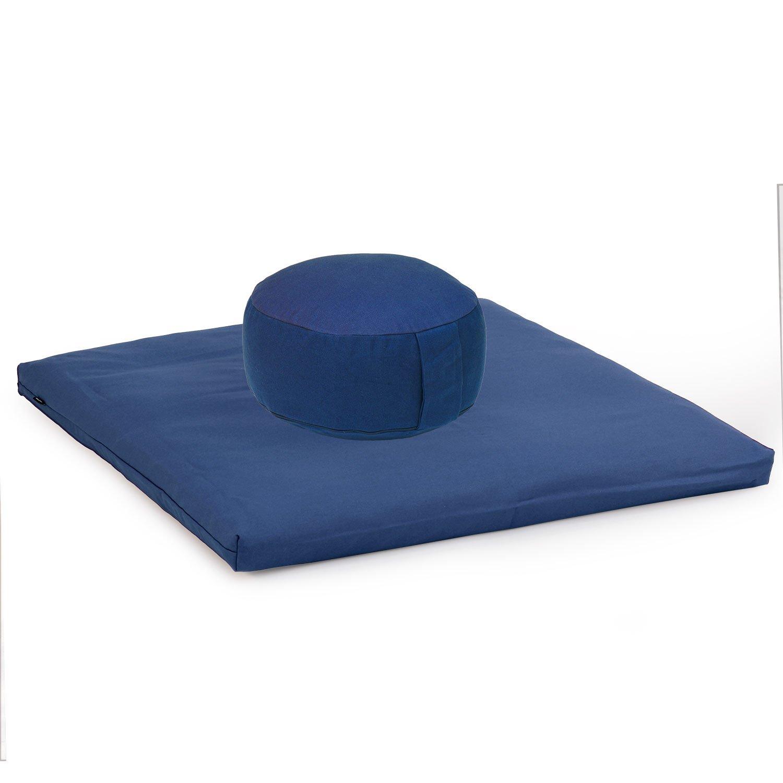 Meditationszubeh/ör Dinkel Meditationsunterlage 80 x 80cm und Meditationsmatte ZABUTON BASIC violett//lila Medi-Set Basic I: Meditationskissen RONDO BASIC Meditationsset