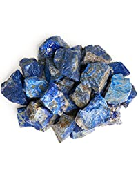 gemhub Digging Dolls 1 lb Lapis Lazuli Rough Rocks from Afghanistan - Raw Natural Stones for Arts, Crafts, Tumbling, Cabbing, Polishing, Wire Wrapping, Gem Mining, Wicca and Reiki Crystal Healing