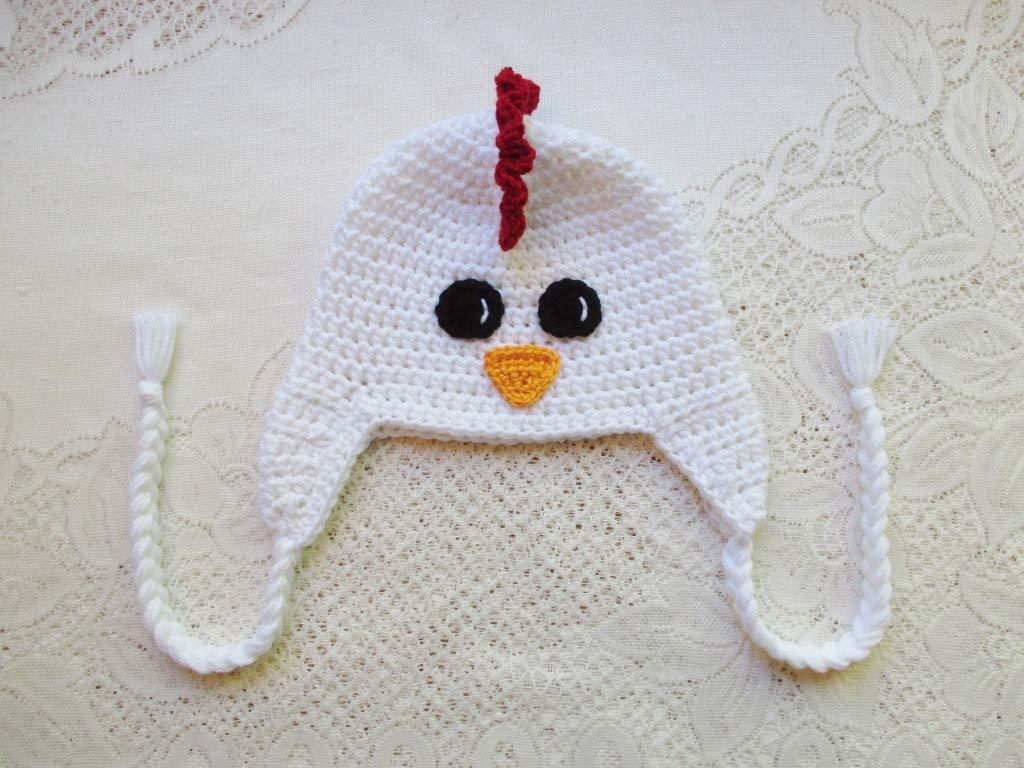 Amazoncom Crochet Chicken Hat Winter Hat Or Photo Prop Handmade
