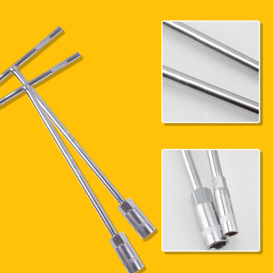 8 mm T Bar Sockel Schraubenzieher Schl/üssel Schl/üssel Metrisches Chrom Vanadium Bolzen Abbau Mutter Spinner Handwerkzeuge