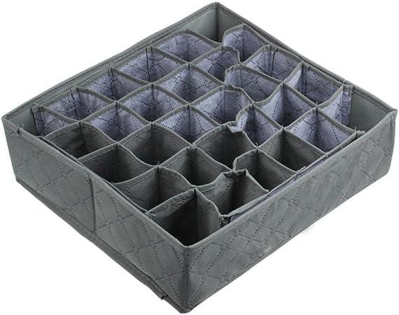 hunpta 30 celdas carbón de bambú calcetines corbatas cajones armario organizador caja de almacenaje: Amazon.es: Hogar
