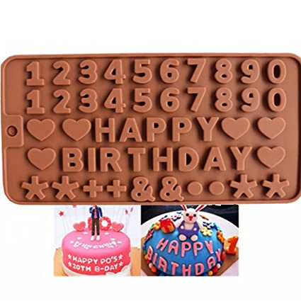Buy Joyglobal Silicone Food Grade Alphabet Happy Birthday