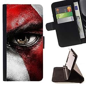 BullDog Case - FOR/Apple Iphone 6 PLUS 5.5 / - / GOD WAR CRATO /- Monedero de cuero de la PU Llevar cubierta de la caja con el ID Credit Card Slots Flip funda de cuer