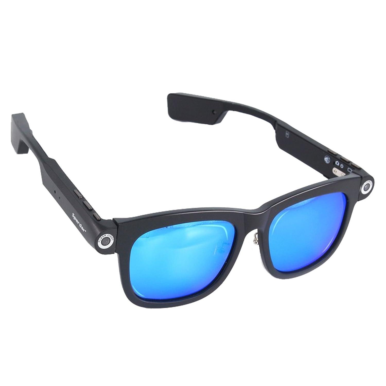 1280x720p CSR4.0 Bluetooth 8GB TFカード 内蔵 ビデオメガネネ サングラス UV400 偏光 サングラス (8G-Ice Blue) B078P1G267 8G-Ice Blue 8G-Ice Blue