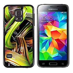 rígido protector delgado Shell Prima Delgada Casa Carcasa Funda Case Bandera Cover Armor para Samsung Galaxy S5 Mini, SM-G800, NOT S5 REGULAR! -Snake 3D Art Abstract Plastic Lines-