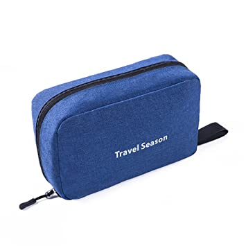 bfb4494fef83 Amazon.com   Travel Cosmetic Bag Men Wash Shaving Bag Waterproof Women  Toiletry Storage Large Capacity Vanity Organizer Toilet Bag Blue   Beauty