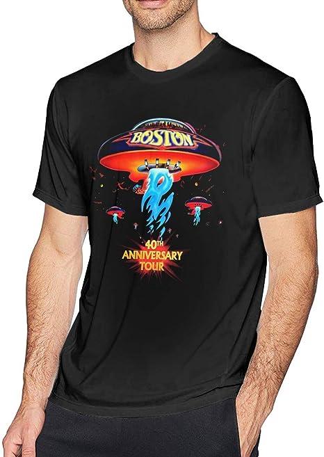 Camiseta de Manga Corta para Hombre Boston-Rock Band Impreso Athletic Casual Camisetas para Hombre Top de Moda: Amazon.es: Deportes y aire libre