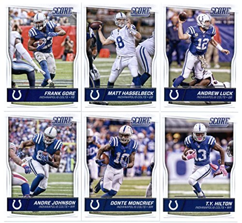 2016 Score Indianapolis Colts Veterans Team Set of 11 Football Cards: Andrew Luck(#137), Matt Hasselbeck(#138), Frank Gore(#139), T.Y. Hilton(#140), Donte Moncrief(#141), Andre Johnson(#142), Coby Fleener(#143), Phillip Dorsett(#144), Robert Mathis(#145), Mike - Hasselbeck Football Matt