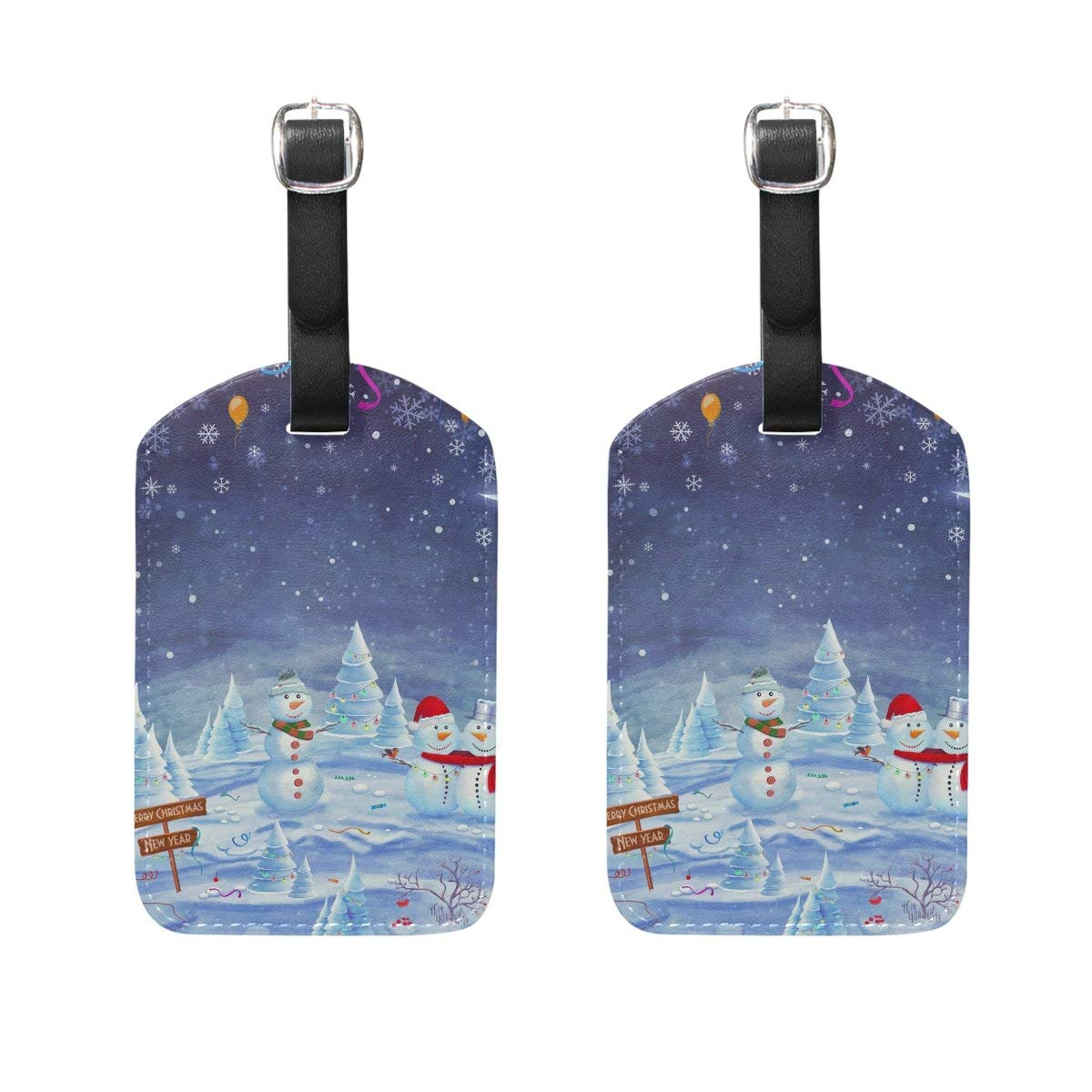 GTdgstdsc Collection Of Christmas Labels Pattern Luggage Tags Travel Labels Tag Name Card Holder for Baggage