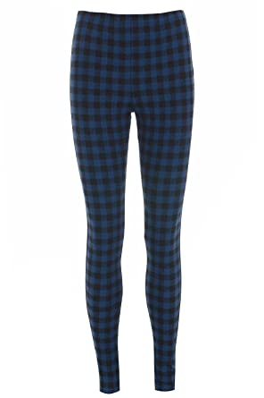 94b55a66b6ee1 WearAll Womens Plus Red Tartan Check Print Elacticated Ladies Full Length  Long Leggings 14-22: Amazon.co.uk: Clothing