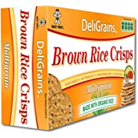 DeliGrains DeliGrains Organic Brown Rice Crisps Multigrain, 100g