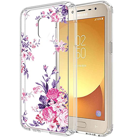 new arrival 446f9 48755 Galaxy J2 core Case,Galaxy J2 Dash/J2 Pure/J260 case for Women  Girls,PUSHIMEI Clear TPU + Hard PC Back with Flower Pattern Phone Case  Cover for ...