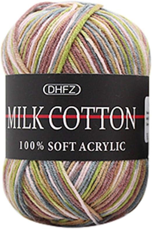 Ovillo de lana de algodón suave para tejer a mano de Winkey, 50 ...