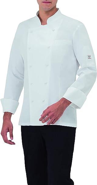 Giblor S Art 17p08g960 Giacca Cuoco Max Uomo Bianco Amazon It Abbigliamento