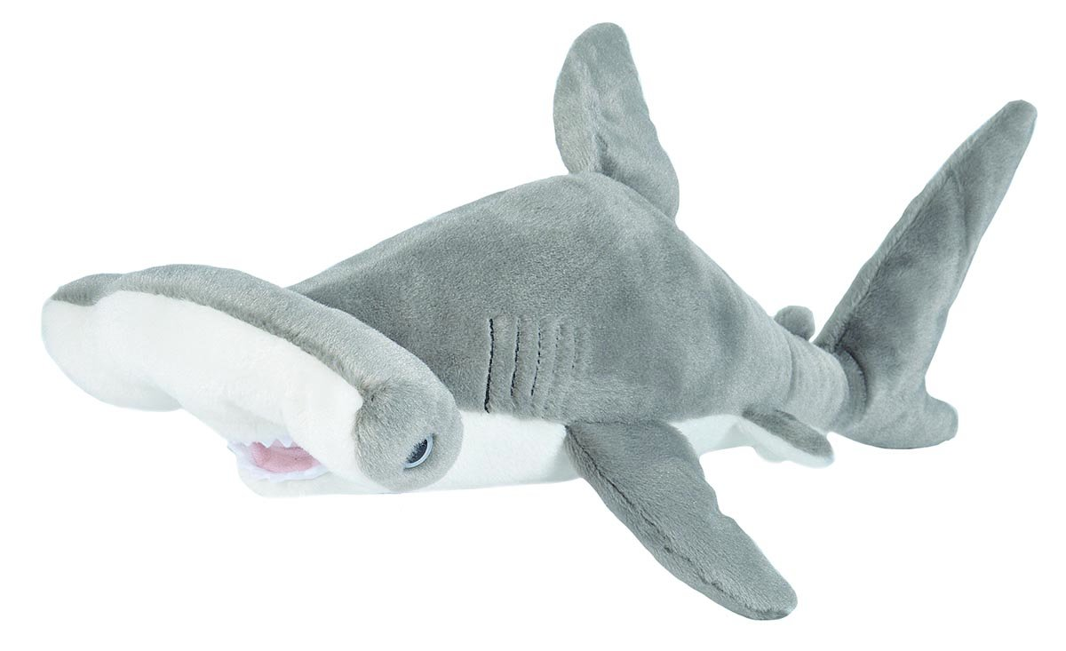 Wild Republic Hammerhead Shark Plush, Stuffed Animal, Plush Toy, Gifts for Kids, Cuddlekins 20""