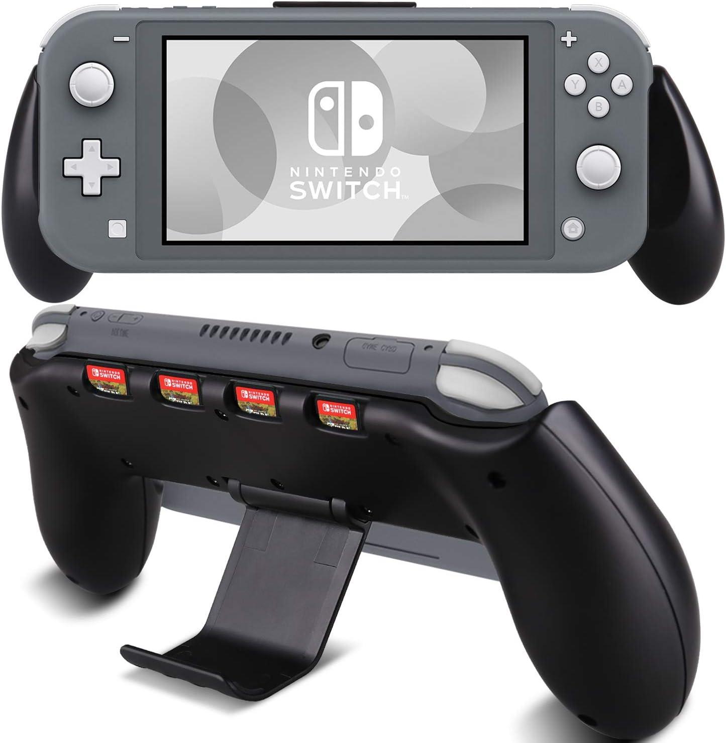 KINGTOP Funda con Manija Consola Funda con Sostener para Nintendo Switch Lite Antideslizante Acolchada Antiarañazos a prueba de golpes - Negro: Amazon.es: Videojuegos