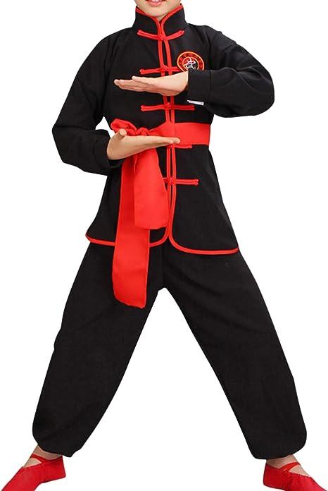 besbomig Tradicional Ropa Tai Chi Uniformes Niños Adulto - Traje de Kung Fu Artes Marciales Completa Kimono para Mujer Hombre Niño Niña: Amazon.es: Deportes y aire libre