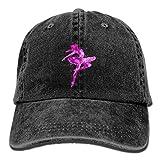 SUJV-T9 Retro Denim Cap Hat Ballet Adjustable Sports Baseball Hat for Adults Unisex