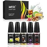 IMECIG 5 Pack 10ml E-Liquids E Juice Multipack Premium Set VG PG Mix Base E-Liquid for E CIG Vape Pen E Cigarette Starter Kit, Vapour Vape E Juice E Shisha Eliquid (No Nicotine) (Dark & Mermaid)