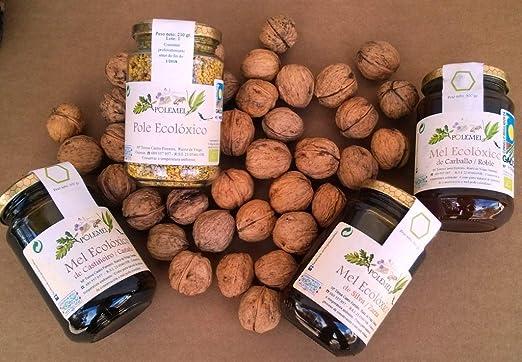 Pack Miel ecológica botes 500 gr. Polemel (Roble/Zarzamora/Castaño): Amazon.es: Alimentación y bebidas
