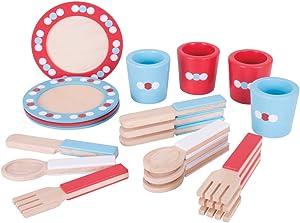 Bigjigs Toys Dinner Service (20 Pieces)