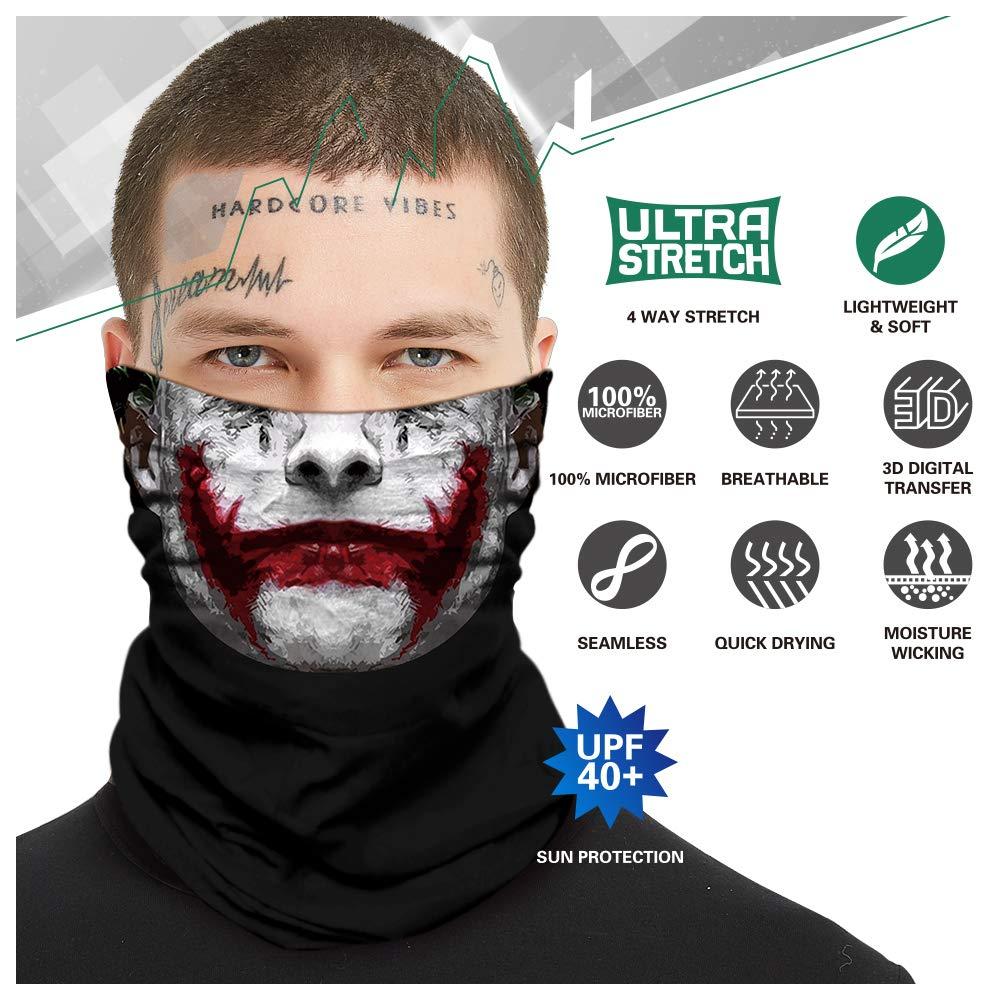 Angeln Wandern Radfahren multifunktionale Kopfbedeckung Nahtlose Schlauch-Stirnb/änder f/ür M/änner und Frauen TEFITI 3D-Totenkopf-Gesichtsschutz Laufen Jagd