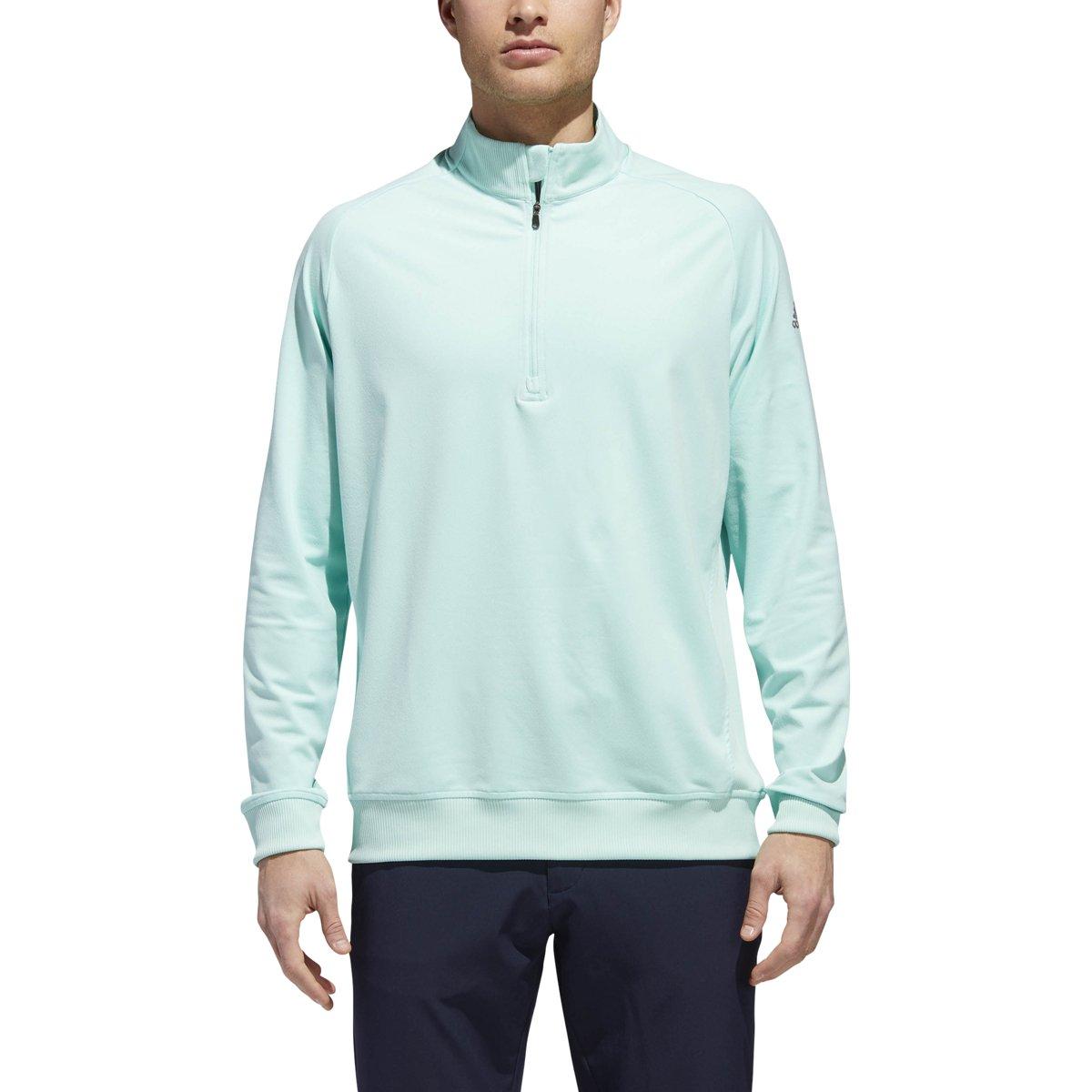 adidas Golf Men's Classic Club 1/4 Zip Pullover Sweater, Small, Clear Mint F